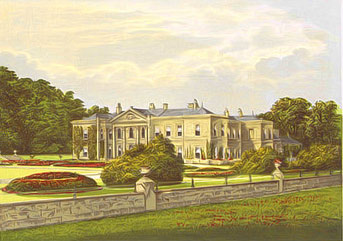 Etching of Studley Royal House from 19th century