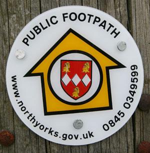 Footpath way marker